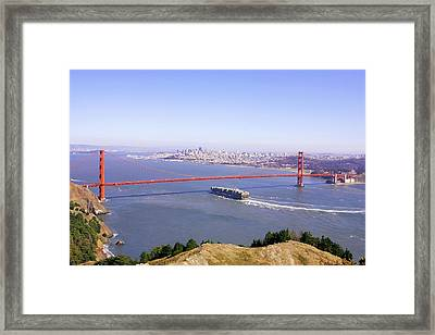 Framed Print featuring the photograph San Francisco - City By The Bay by Art Block Collections