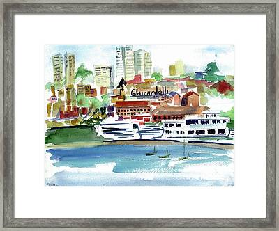 San Francisco Cityfront From Aquatic Park Framed Print