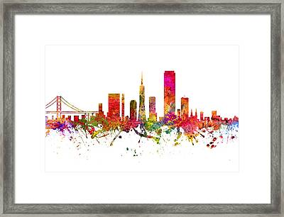 San Francisco Cityscape 08 Framed Print