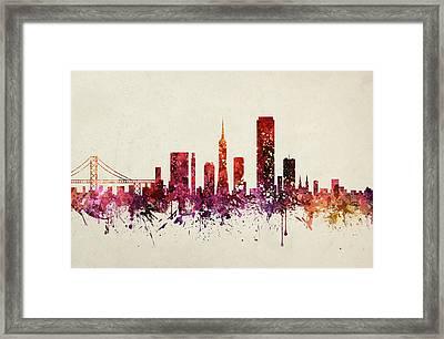 San Francisco Cityscape 09 Framed Print