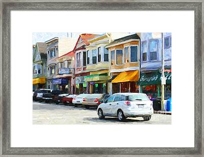 San Francisco Clement Street 2 Framed Print by Wingsdomain Art and Photography