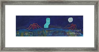 San Francisco Coit Tower Abstract Framed Print