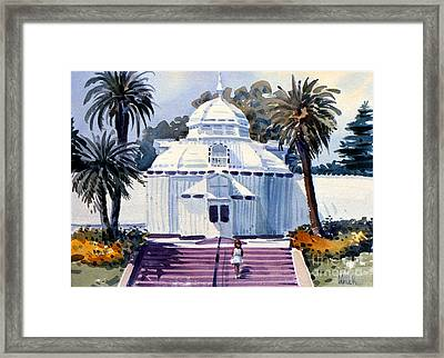 San Francisco Conservatory Framed Print by Donald Maier