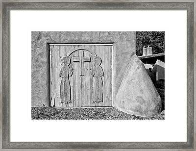 San Francisco De Asis Mission Church 3 Framed Print by Lou  Novick