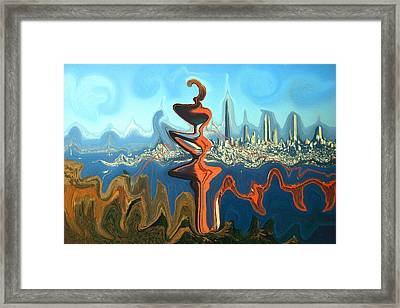 San Francisco Earthquake - Modern Art Framed Print