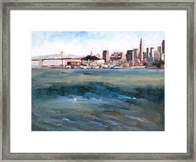 San Francisco From Marin Framed Print by Deborah Cushman