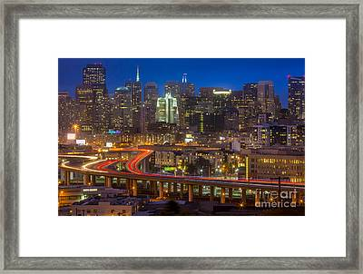 San Francisco From Potrero Hill Framed Print