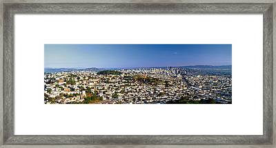 San Francisco From Twin Peaks Framed Print by Panoramic Images