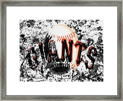 San Francisco Giants 6a Framed Print by Brian Reaves
