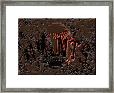 San Francisco Giants 6c Framed Print by Brian Reaves