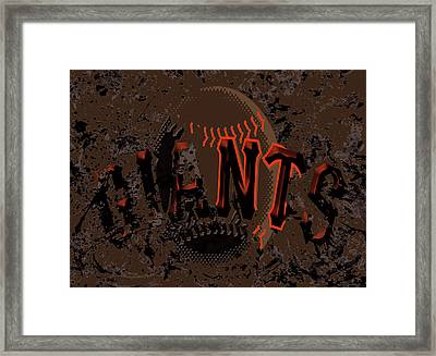 San Francisco Giants 6d Framed Print by Brian Reaves