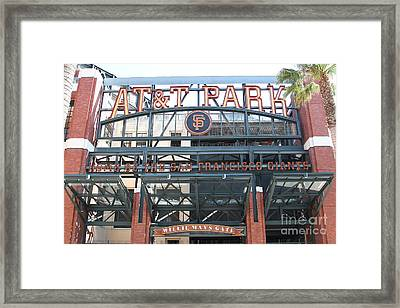 San Francisco Giants Att Park Willie Mays Entrance . 7d7635 Framed Print