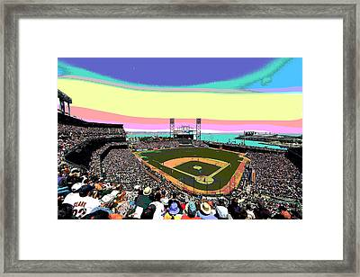 San Francisco Giants Framed Print by Charles Shoup