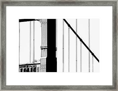 San Francisco Golden Gate Bridge . Black And White Photograph . 7d7954 Framed Print by Wingsdomain Art and Photography