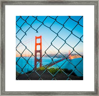 San Francisco Golden Gate Bridge Framed Print by Cory Dewald