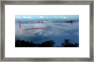 San Francisco Golden Gate Bridge Panoramic  Framed Print