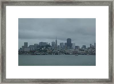 San Francisco Gray Framed Print by Gordon Beck