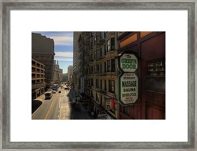 San Francisco Green Door Framed Print by Rich Beer