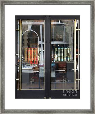 San Francisco Gumps Department Store Doors - Full Cut - 5d17094 Framed Print by Wingsdomain Art and Photography