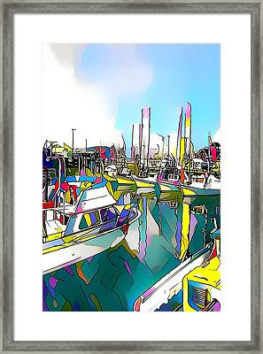 San Francisco Harbor Framed Print by Roger Smith