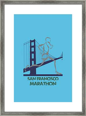San Francisco Marathon2 Framed Print by Joe Hamilton