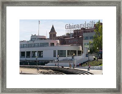 San Francisco Maritime National Historical Museum Overlooking The Ghirardelli Chocolate Dsc3195 Framed Print by Wingsdomain Art and Photography