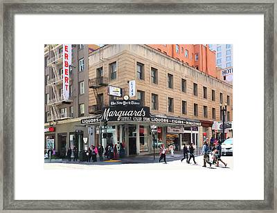 San Francisco Marquards Little Cigar Store On Powell Street 5d17950 Painterly Framed Print