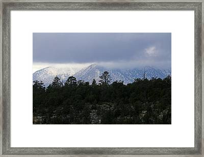 San Francisco Mountains From Walnut Canyon Framed Print