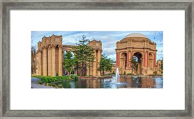 San Francisco Palace Of Fine Arts Panorama Framed Print by Gregory Ballos
