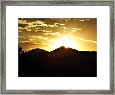 San Francisco Peaks At Sunset Framed Print