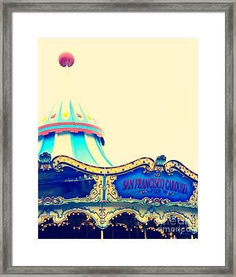 San Francisco Pier 39 Carousel Framed Print by Kim Fearheiley