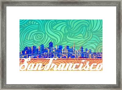 San Francisco Postales Framed Print