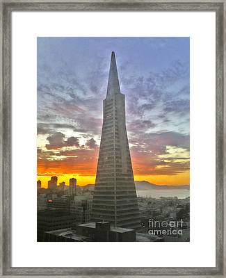 San Francisco Pyramid Framed Print