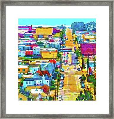 San Francisco Quintara View Framed Print