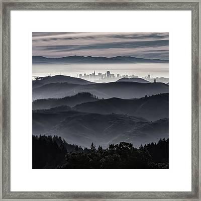 San Francisco Seen From Mt. Tamalpais Framed Print