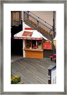 San Francisco Shop Framed Print by Frank Romeo