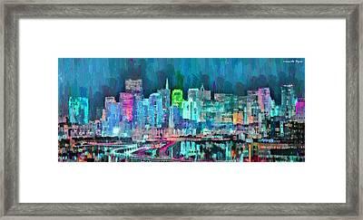 San Francisco Skyline 105 - Da Framed Print
