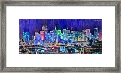 San Francisco Skyline 111 - Da Framed Print by Leonardo Digenio