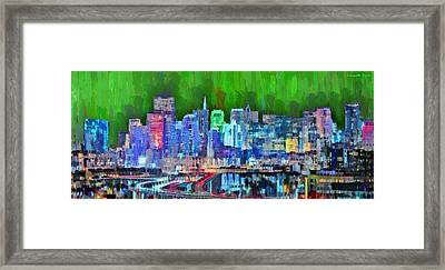 San Francisco Skyline 116 - Da Framed Print