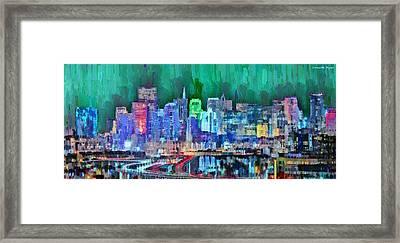 San Francisco Skyline 117 - Pa Framed Print by Leonardo Digenio
