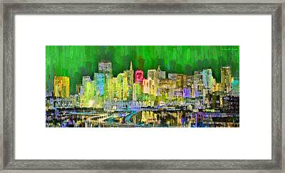 San Francisco Skyline 124 - Da Framed Print by Leonardo Digenio