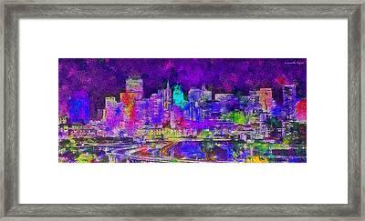 San Francisco Skyline 134 - Da Framed Print