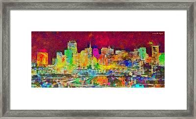 San Francisco Skyline 139 - Pa Framed Print