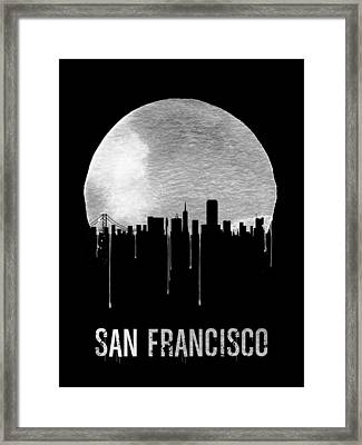 San Francisco Skyline Black Framed Print