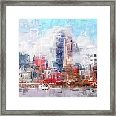 San Francisco Skyline Eos 5d29399 V1 Square Framed Print