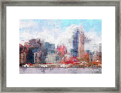 San Francisco Skyline Eos 5d29399 V1 Framed Print