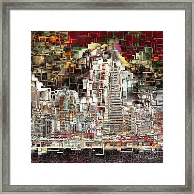 San Francisco Skyline Eos 5d29399 V2 Square Framed Print