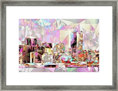San Francisco Skyline In Abstract Cubism Eos 5d29399 20170326 Framed Print