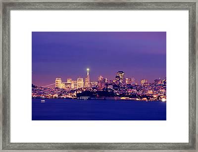 San Francisco Skyline Framed Print by Kevin Ho