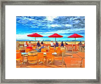San Francisco Skyline From Alameda  Framed Print by Linda Weinstock